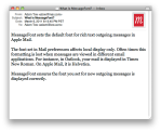 Apple Mail - MessageFont